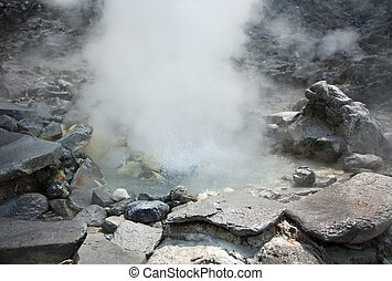 Hot spring - Photo of hot spring in Indonesian vulcano aerea