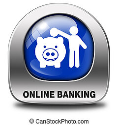 onine banking - online banking money deposit on internet...