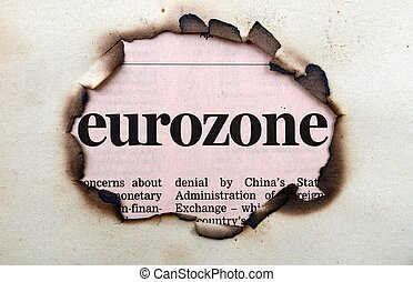 Eurozone on paper hole