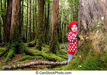 Child lost in the woods - Little girl lost in the forest....