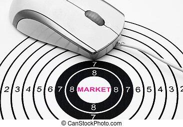 On line market target