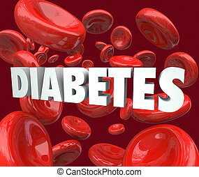 Diabetes Word Blood Cells Disorder Disease - Diabetes word...