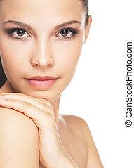 Brunette beauty portrait.