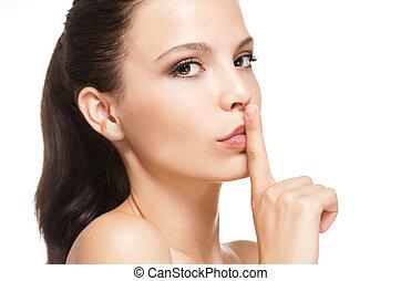 Brunette beauty portrait. - Brunette female beauty portrait...