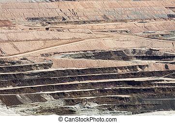 Open Pit Mine - massive open pit mine for borate minerals