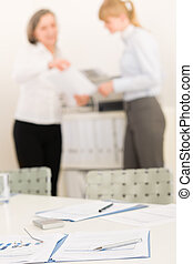 Office supply - two business women discussing - Office...