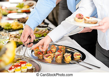 Snacks buffet at business company meeting - Catering at...