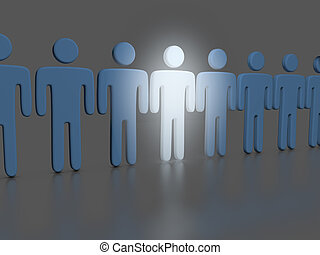 Choose one bright Person in people line