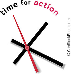 Time clock movement call for action - Hour minute second...