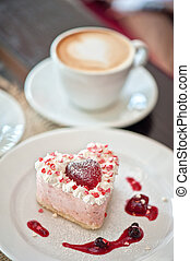 heart-shaped valentine cake - tasty heart-shaped valentine...