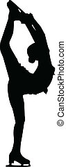 Female Figure Skater Silhouette