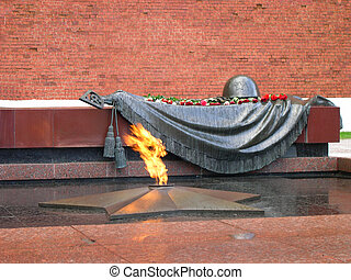 grave of Unknown soldier of Second World War Kremlin wall...