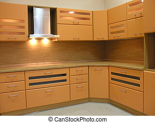 light brown kitchen