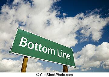 Bottom Line Road Sign