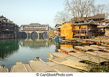 Hongqiao Bridge at Fenghuang China - Hongqiao Bridge at...