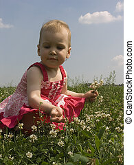 baby in grass 2