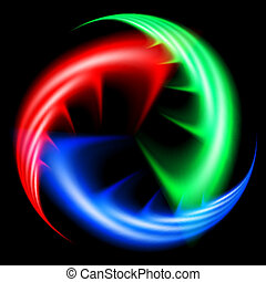 Colored wavy shapes