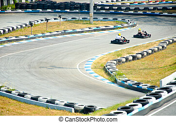 Go-cart racing at Thailand