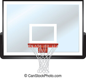 Basketball Rim and Backboard - A vector illustration of a...