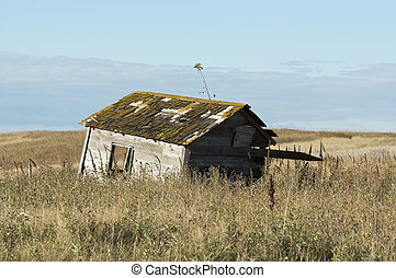 Old Buidling - An old farm building in North Dakota