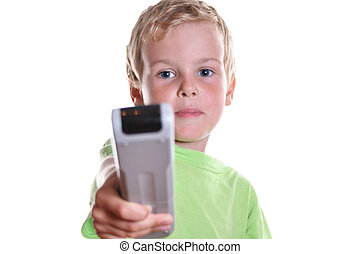 child with remote control