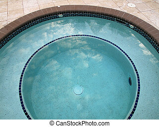 Calm Waters of a Pool in the Gulf of Mexico - Calm aqua blue...