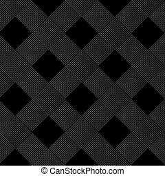 Black background of diagonal wicker