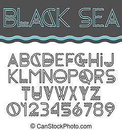 Vector set of Alphabet letters and numbers