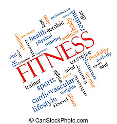 Fitness Word Cloud Concept Angled