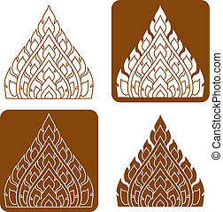 Line Thai art pattern illustration. - Line Thai art pattern...