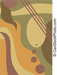Composition - Abstract vector composition in warm brown...