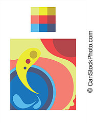 Composition - Abstract curve composition in vector three...