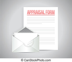 appraisal form document illustration design over a grey...