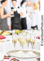 Champagne toast glasses for meeting participants - Champagne...