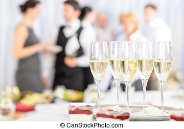 Aperitif champagne for meeting participants - Aperitif...