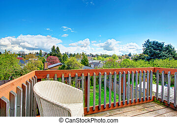 Cozy deck with beautiful landscape view