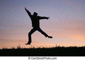 jump man on sunset