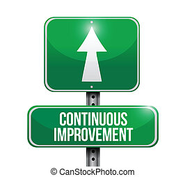 continuous improvement sign illustration design over a white...