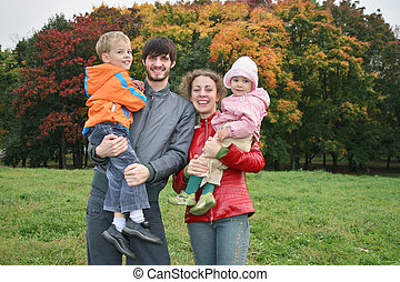 autumn family of four