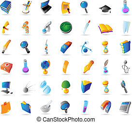 Icons for science and education - Icons for science,...