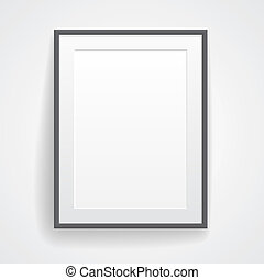 Blank paper poster with frame. Vector eps-10.