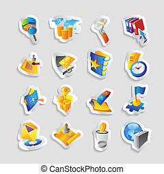 Icons for business and finance Vector illustration