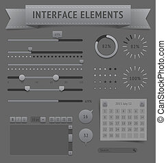 User interface elements. Vector saved as EPS-10, file...