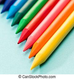 Kid's coloring crayons school art - Kid's coloring crayons...