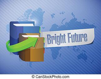 bright future message illustration design