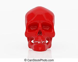 Red skull - High resolution image red skull. 3d illustration...