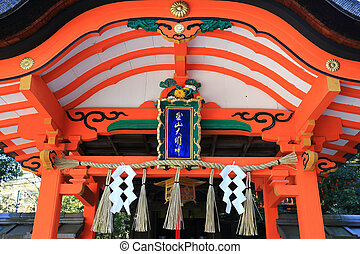 Detail roof Fushimi Inari, Kyoto, Japan