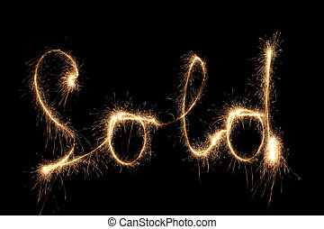 SOLD sparkler (you can see other words in my portfolio)