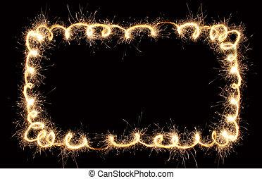 CONFETTI sparkler border