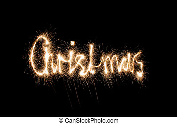 christmas sparkler (you can see other words in my portfolio)